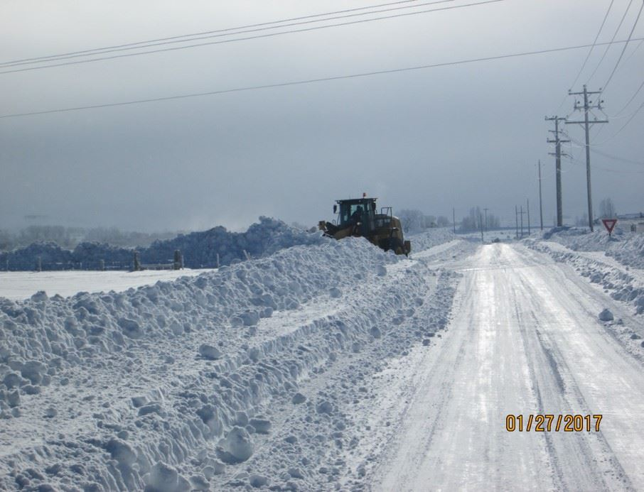 Cut Off Road Partially Plowed
